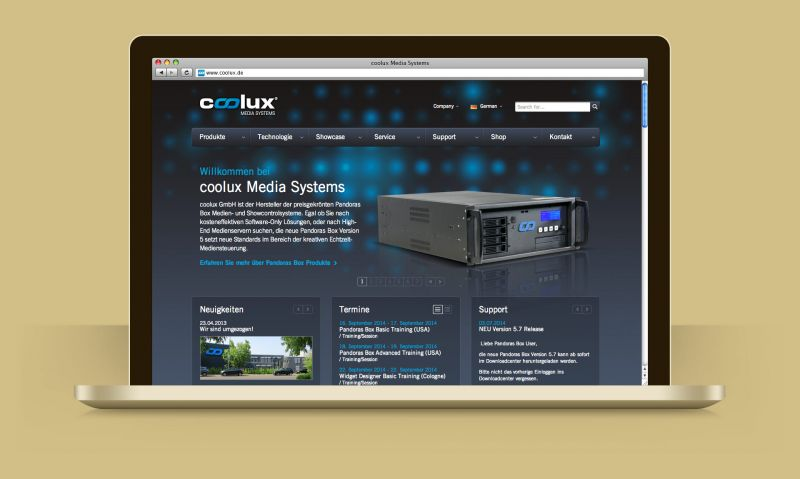 Airbits - coolux Webseite
